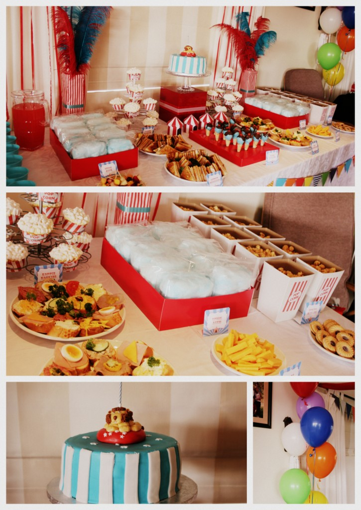 1 year old circus party fun 3 kids 2 dogs 1 old house for Another word for food decoration