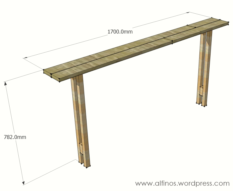 mission sofa table plans