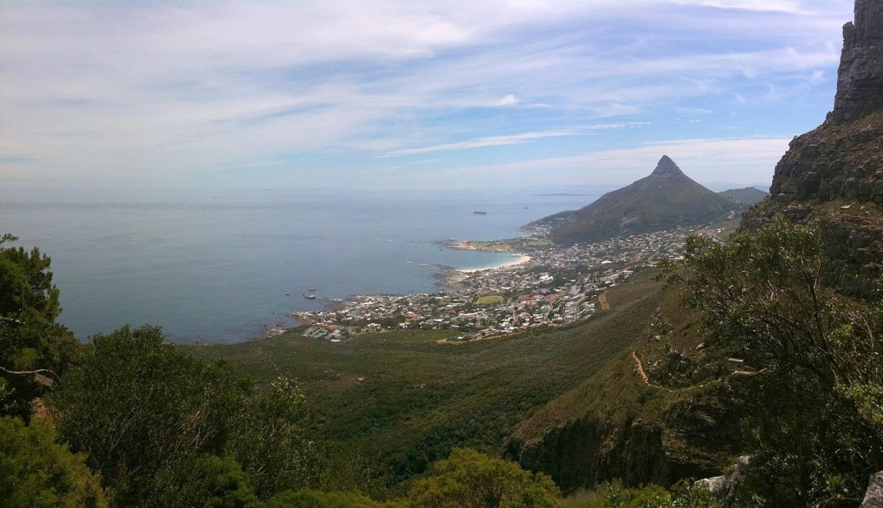 Panoramic view taken on my iPhone from Slangolie Ravine on Table Mountain