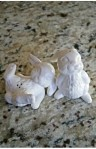 bunny salt and pepper shakers white - The Pickled Fish