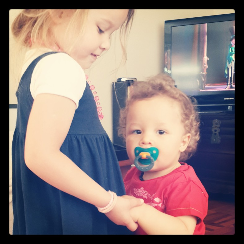 Helping Knox to walk - I can't even explain how my heart reacts when it sees this picture