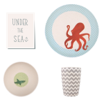 Under The Sea Bamboo Dinner Set - Love Mae