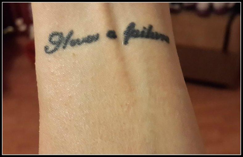 Tattoo-left wrist-Quote